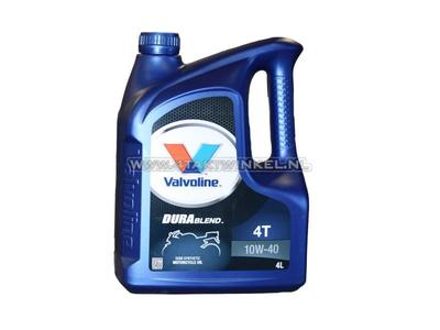 Olie Valvoline 10w-40 semi-synthetisch, 4-takt, 4 liter