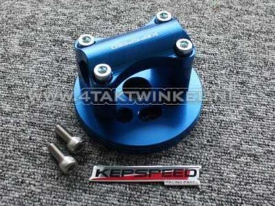 Kroonplaat C50, voor 22mm stuur, blauw