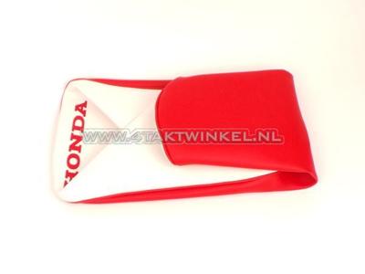 Buddydekje C310 rood/wit, Honda opdruk, imitatie