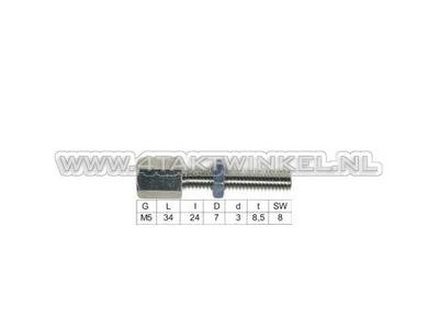 Kabelsteller, m5 draad