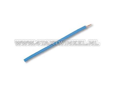 Draad per meter 0,75mm2, blauw licht