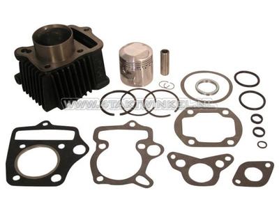 Cilinderset, met zuiger & pakking 70cc, OT70 kop 49cc opdr. staal, Japans