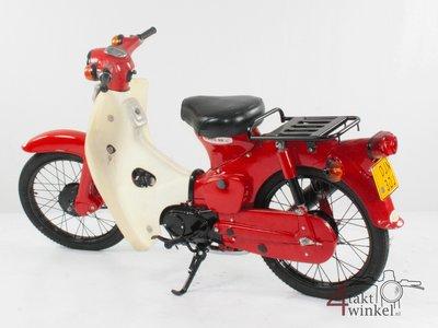 Honda C50 OT Japans, Rood, 3321 km, met kenteken