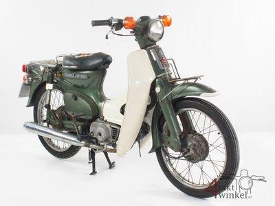 Honda C90 K1 Japans, 51468 km, groen, met kenteken!