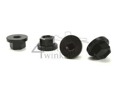 Dopmoer set, m10 x 1,25, CNC, zwart