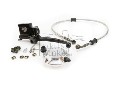 Hendel hydraulisch, links, hydraulische koppeling set, zilver, Kepspeed