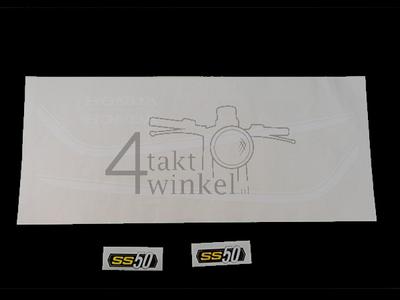 Sticker SS50 tank striping k1 wit, frame, set
