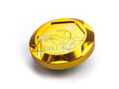 Tankdop Monkey, CNC, type 2, aluminium, goud