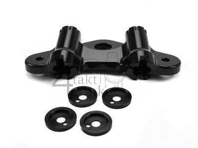 Kroonplaat Dax OT CNC aluminiun zwart