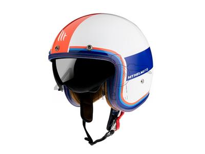 Helm MT, Le Mans Speed, wit / blauw / rood , Maten S t/m XXL