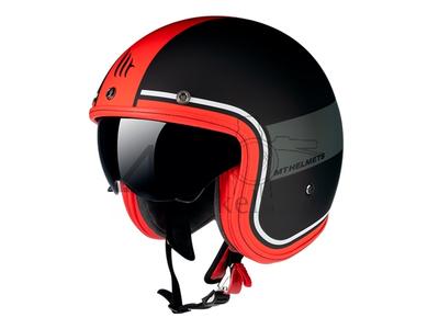 Helm MT, Le Mans Speed, zwart / grijs / rood , Maten S t/m XL