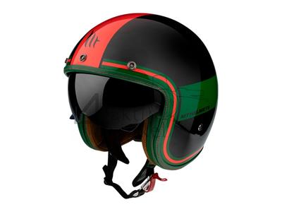 Helm MT, Le Mans Speed, zwart / groen/ rood , Maten S t/m XXL