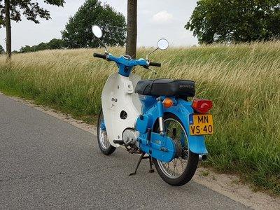 Honda C70 OT, 6293 km, motorfietskenteken