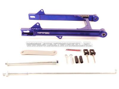 Achterbrug C50, SS50, CD50 aluminium, Kepspeed, +6cm, blauw