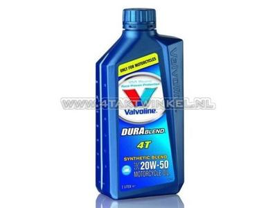 Olie Valvoline 20w-50 semi-synthetisch, 4-takt, 1 liter
