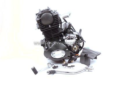 Motorblok,  50cc, handkoppeling, Lifan, (Mash) 4-bak, staande cilinder, met startmotor