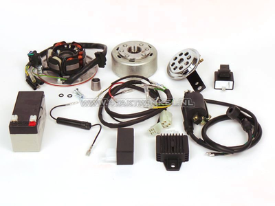 CDI ontsteking ombouw set & 12 volt elektra SS50, CD50, C50, C70, ST50, ST70, Dax, licht vliegwiel