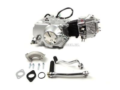 Motorblok,  50cc, handkoppeling, Lifan, 4-bak, zilver