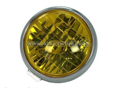 Koplampunit Dax 3-bout diamond, geel