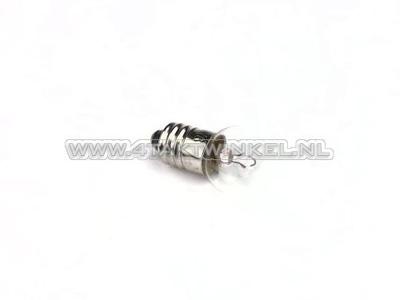 Lamp E10 schroef fitting, enkel,  6 volt, 6 watt