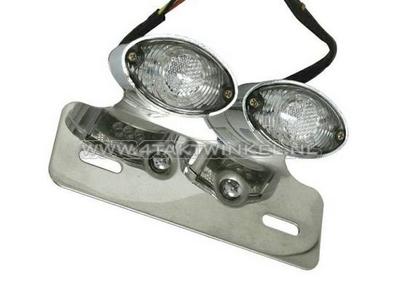 Achterlicht cateye dubbel, blank LED