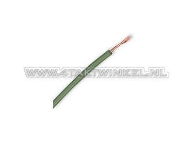 Draad per meter 0,75mm2, groen
