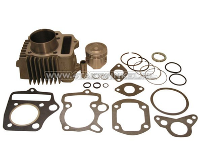 Cilinderset, met zuiger & pakking 70cc, NT50 kop 49cc opdr. aluminium, Japans