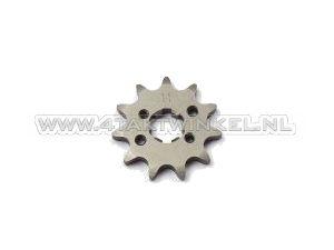 Voortandwiel, 420 ketting, 17mm as, 11, SS50, C50, Dax, m3 gaten