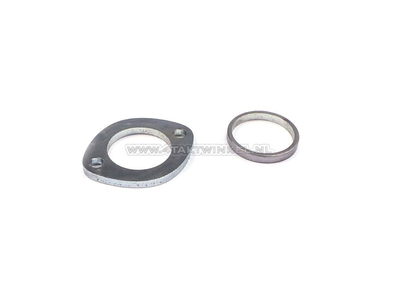 Uitlaat flens 32mm + ring CB50, CY50