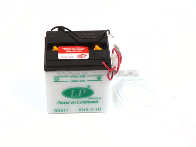 Accu 6 volt 5,5 ampere, C90 OT