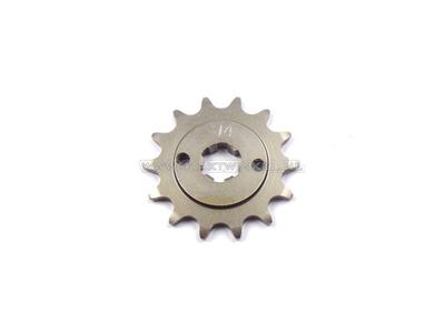 Voortandwiel, 415 ketting, 17mm as, 14, C310, PC50, PS50