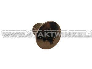 Bout kruiskop verzonken, m6 x 10, lenskop, chroom, origineel Honda