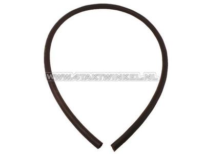 Benzineslang, 3,5mm - 7,5mm, zwart, per meter