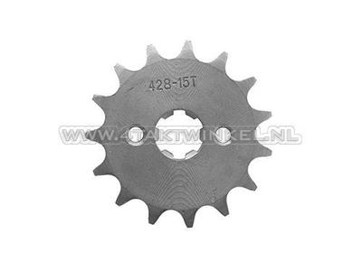 Voortandwiel, 428 ketting, 17mm as, 15, Mash / AGM