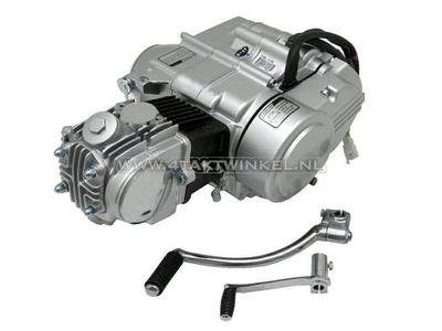 Motorblok,  50cc, handkoppeling, Zongshen, 4-bak, zilver
