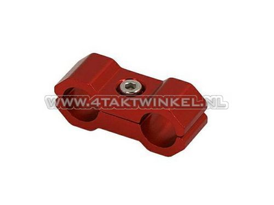 Kabel binder / klem, 6mm, aluminium, rood
