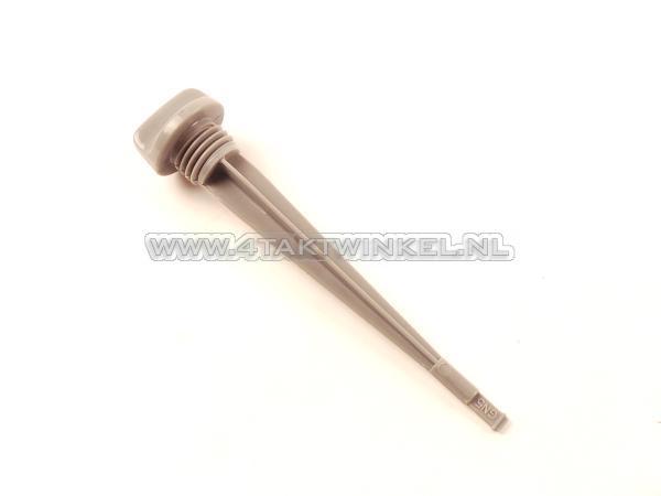Olie-peilstok-lang,-129mm,-C50,-C310,-C320,-origineel-Honda