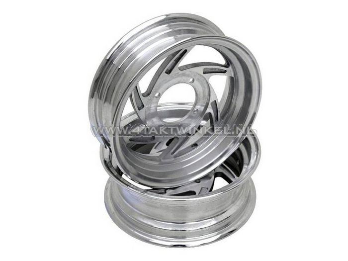"Velg-set-Monkey,-12""-aluminium,-tubeless,-6-spaaks-swirl,-2.75-/-3.50"