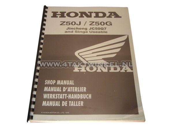 Werkplaatsboek,-Honda-Monkey-Z50J