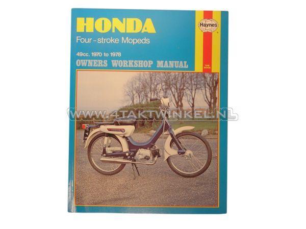 Werkplaatsboek,-Honda-PC50,-Novio,-Amigo,-Haynes,-origineel