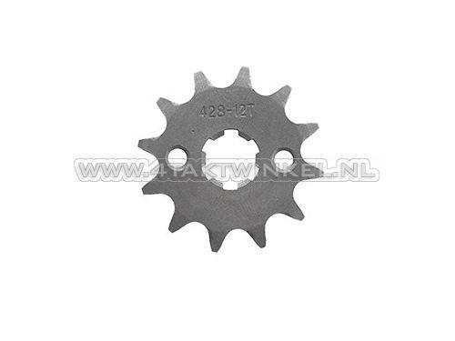Voortandwiel,-428-ketting,-17mm-as,-12,-Mash-/-AGM