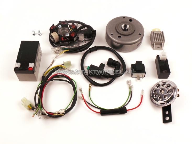 CDI-ontsteking-ombouw-set-&-12-volt-elektra-CB50,-CY50