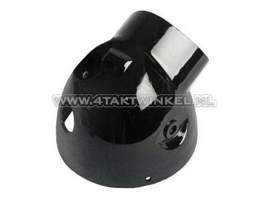 Koplamphuis-Dax-groot,-aluminium,-zwart