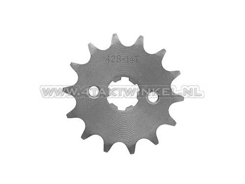 Voortandwiel,-428-ketting,-17mm-as,-14,-Mash-/-AGM