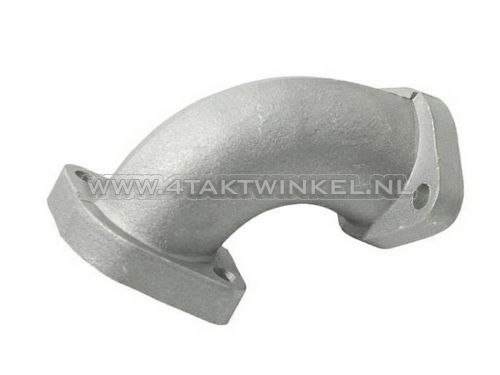 Spruitstuk-26mm,-schuin-naar-links,-brede-flens,-zilver