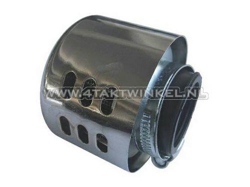 Powerfilter-35mm,-recht,-chroom-kapje,-bol