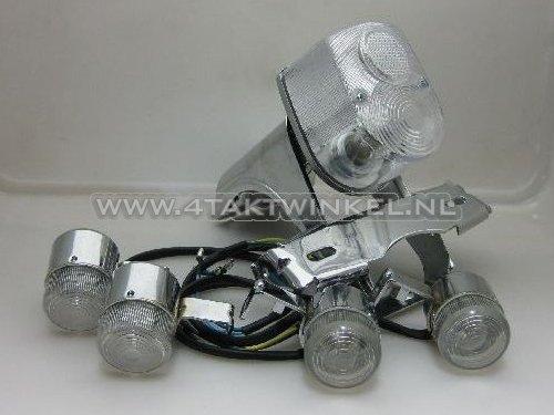 Achterlicht-en-knipperlicht-set,-Dax-old-style,-Skyteam,-blank