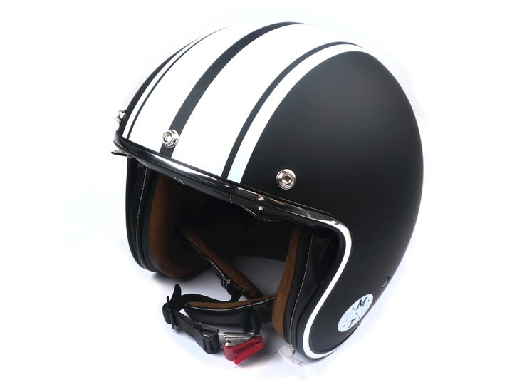 Helm-MT,-Le-Mans-Speed-Mat-Zwart/Wit,-Maten-S-t/m-XL
