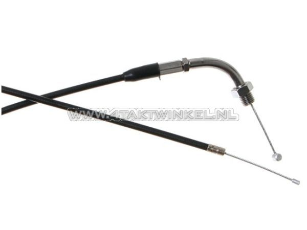 Gaskabel,-CB50,-CY50,-XL50,-83cm,-chroom-bochtje