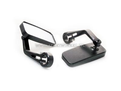 Bar End Spiegels : Strada black triangle handle bar end mirrors moto guzzi